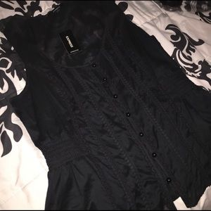 NWT Button down Express Large top